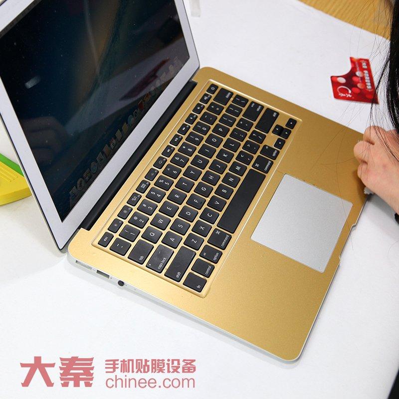 苹果土豪金笔记本贴纸图片