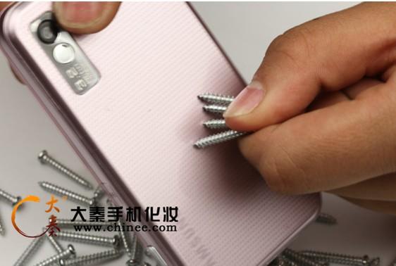 高档手机保护膜耐刮实验