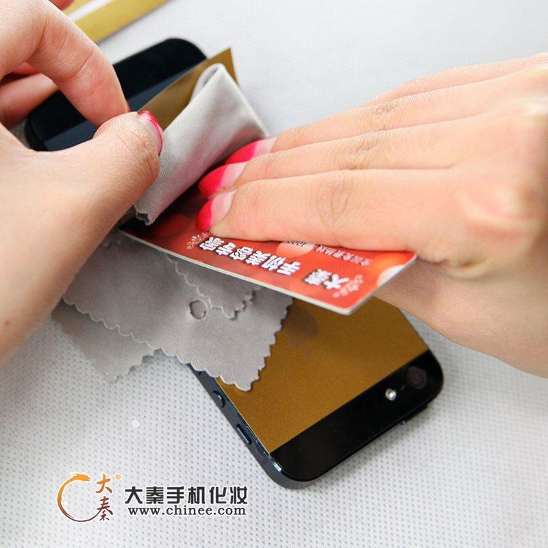 黑版iphone5變身土豪金,大秦土豪金貼膜超給力