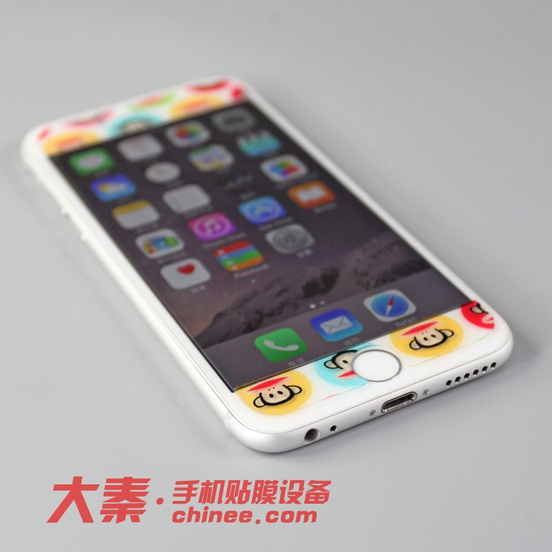手镯iphone6贴膜超闪钻钢化玻璃手机新疆和田苹果玉羊脂图片
